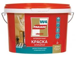Краска акриловая PARADE W4, 2,5л интерьерная, база С бесцветная