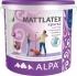 Краска Альпа Маттлатекс для стен и потолков, акриловая, матовая 2л