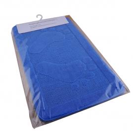 Коврик для ванной комнаты полипропилен, голубой 45х75см