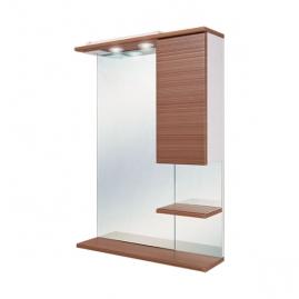 Зеркало Onika Элита 60.01 штрокс коричневый, с подсветкой правое