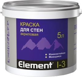 Краска Элемент I-3 для стен акриловая 5л