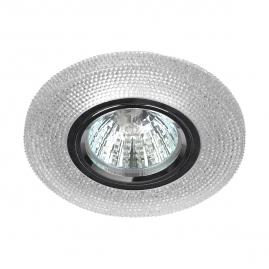 Точечный светильник Эра DK LD1 WH cо светодиодной подсветкой 3вт прозрачный