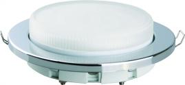 Светильник встраиваемый пластиковый Camelion серебро FP1-GX53-S