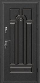 Дверь металлическая VALBERG ПР2 СОЛОМОН муар/Кэпитол ель 2066x880мм правая