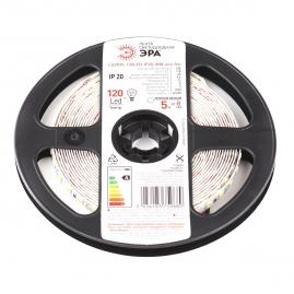 Лента светодиодная Эра LS2835 120LED 9,6Вт 5м 2700К 12В IP20 LS2835-9,6-120-12-2700-IP20-1 year-5m