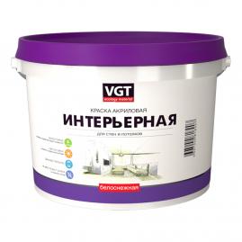Краска ВГТ ВД АК-1180 белоснежная, интерьерная, влагостойкая 3кг
