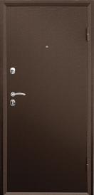 Дверь металлическая VALBERG Б4 ПРАКТИК антик медный/Рационалист орех премиум 2066x980мм правая