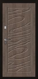 Дверь металлическая VALBERG С1 ДЖАЗ черный муар/сосна прованс 2066x980мм правая