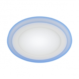 Светильник светодиодный встраиваемый круглый Эра LED 9Вт 4000К 145мм с подсветкой 3-9 BL