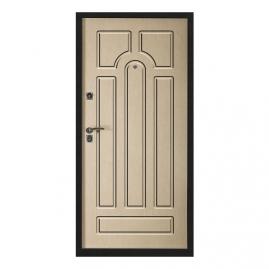 Дверь металлическая VALBERG С1 АККОРД черный муар/Кэпитол дуб пикар 2052x950мм левая