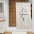 Штора для ванной комнаты Fora Создавая мечты бежевая FOR-DA095BG