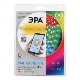 Комплект Эра со светодиодной лентой LS5050 30LED 7,2Вт 5м RGB 12В IP65 драйвер, Wifi, конекторы