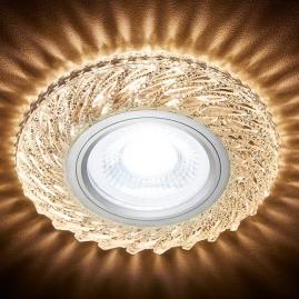 Светильник точечный Ambrella light S295 CH-WR хром, прозрачный хрусталь MR16+3W LED WARM 3000K