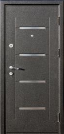 Дверь металлическая Токио black/white, левая 960