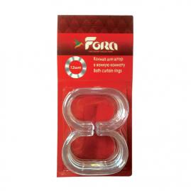 Набор колец для штор в ванную Fora прозрачные К12