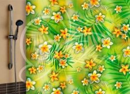 Шторка для ванной Vilina Солнечные цветы 1567-1