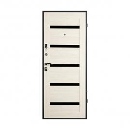 Дверь металлическая Valberg Стайл черный муар/беленый дуб 2066x880мм левая