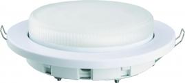Светильник встраиваемый пластиковый Camelion белый FP1-GX53-W