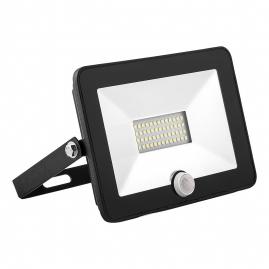 Прожектор светодиодный Feron 30Вт 6400К IP65 датчик SFL80-30 2835SMD AC220V/50Hz черный 29523
