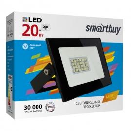 Прожектор светодиодный Smartbuy 20Вт 6500К IP65 FL  SMD LIGHT черный SBL-FLLight-20-65K