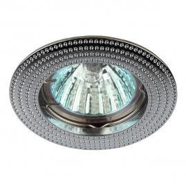Светильник точечный Эра KL55 CH литой MR16 12В, 220В 50Вт хром