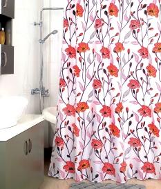 Шторка для ванной Milardo Red Asters 960P180M11