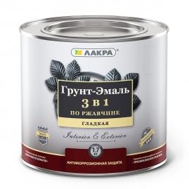 Грунт-эмаль 3в1 шоколадно-коричневый Лакра 1,7кг