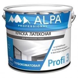 Краска Альпа Профи 3 база С прозрачная 9.06л