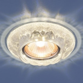 Точечный светильник MR16, 7249 серебряный блеск