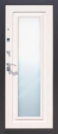 Дверь металлическая Царское Зеркало левая, седой дуб 860мм