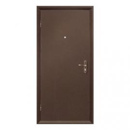 Дверь металлическая VALBERG Б2 ПРОФИ металл/металл антик медный 2036x950мм левая