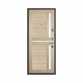Дверь металлическая Меги 573-110Б серебро капучино 2050x970мм правая