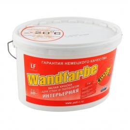 Краска водно дисперсионная Поли-Р Wandfarbe для стен и потолков, матовая, универсальная 7кг