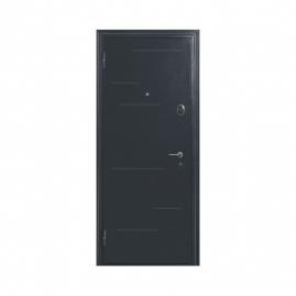 Дверь металлическая Меги 573-110Б серебро капучино 2050x870мм левая