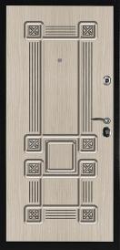 Дверь металлическая С4 СЕНАТОР S Кельт 2 винорит/Кельт беленый дуб 2060x980мм левая