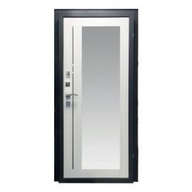 Дверь металлическая Рефлект беленый дуб 2066x980 левая