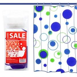 Шторка для ванной Good Sale Круги Y013777C