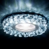 Светильник точечный Ambrella light S257 BK хром тонир хрусталь MR16+3W LED WHITE