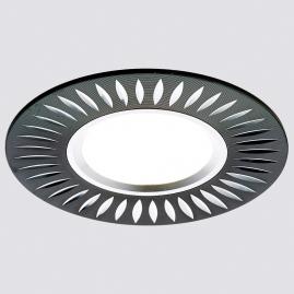Светильник точечный Ambrella light A507 BK-AL литой черный алюминий MR16
