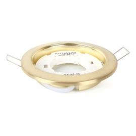 Светильник точечный встраиваемый Ultraflash GX-53-05 220В металл матовое золото14059