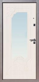 Дверь металлическая Ампир беленый дуб, левая 860