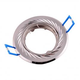 Точечный светильник Эра KL6A поворотный с гравировкой по кругу MR16, 12V, 50W сатин никель/никел