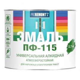 Эмаль Proremontt ПФ-115 черная 2,7кг