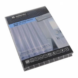 Шторка для ванной Milardo grey fresco 180х200см SCMI012P