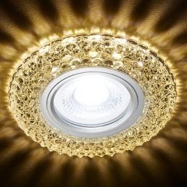 Светильник точечный Ambrella light S291 CH-WR хром, прозрачный MR16+3W LED WARM 3000K