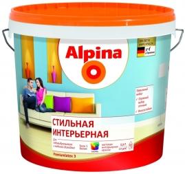 Краска латексная Аlpina Долговечная интерьерная База 1 2,5л