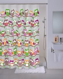 Шторка для ванной Milardo Cheeky owls 530V180M11 PEVA