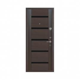 Дверь металлическая Меги 573-118Т серебро венге 2050x870мм правая