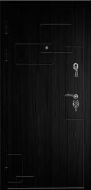 Дверь металлическая С4 ДИПЛОМАТ Абстракция 2 орех 2060x980мм правая