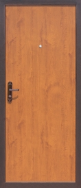 Дверь металлическая Стройгост 5-1 золотистый дуб, левая 880х2060мм